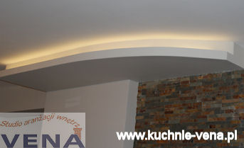 Projekty wnętrz Lublin - Vena- Scianka podświetlana
