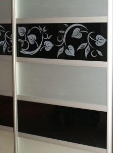 SONY DSCSzafa Lublin - Vena  - ręcznie rysowany wzór jest wypiaskowany wzór na szafie