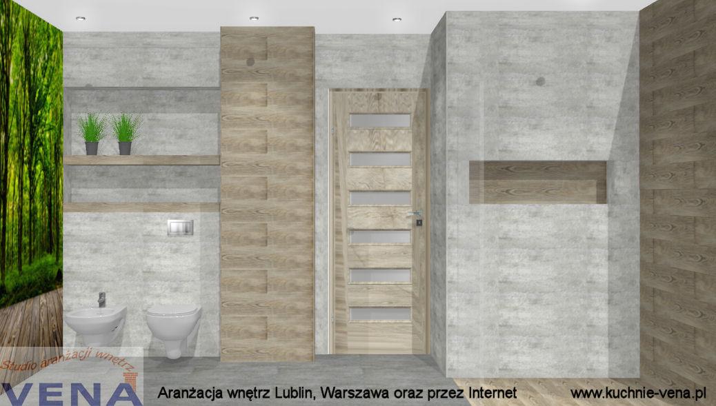 Projektowanie wnętrz Lublin, Warszawa Vena- aranżacja łazienki- projektant wnętrz Aleksandra Smereczyńska